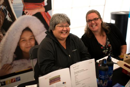 "Lisa Hutton (left), who works for Indigenous and Northern Affairs Canada, took the First Nations Governance and Public Administration program. ""Working together, I think we are just able to do much bigger and better projects that benefit all Yukoners, not only the First Nations governments and communities, but Yukoners as a whole. This program is one of those areas where it really highlights how working together really advances self-government here in the Yukon."""